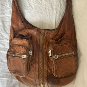well loved alexander wang leather bag